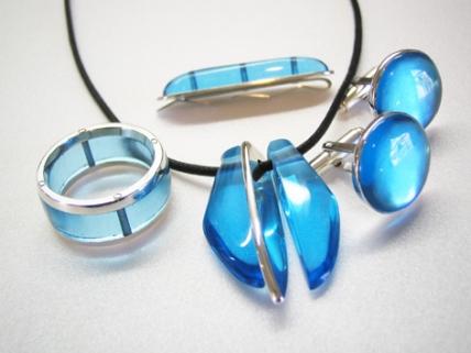 blue glass set copy